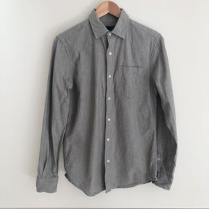 Gap Slim Fit Button Down Gray Men's Size Small